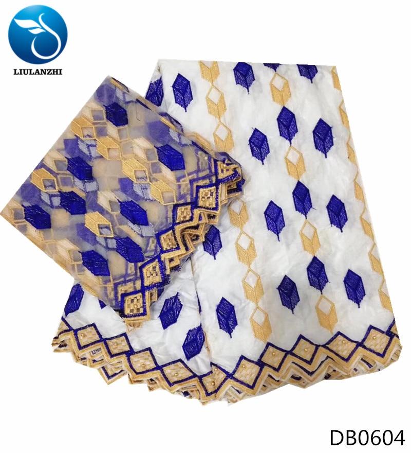 LIULANZHI bazin riche fabric white cotton african lace fabrics tissu batik cheap guinea brocade fabric top