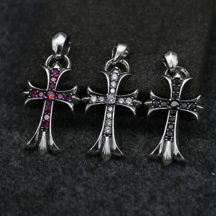 Retro Pure Silver Retro Swing Sweater Chain Pendant Thai Silver Couples Jewelry Tide Fashion Necklace Pendant