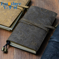 Genuine Leather Notebook Handmade Passport Traveler Notebook Cowhide Vintage Style Journal Spiral Diary Free Shipping N115