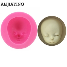M0957 Baby Face Silicone Mold Chocolate Polymer Clay Craft Molds Handmade Dolls Sugar craft Mould Baking Tools