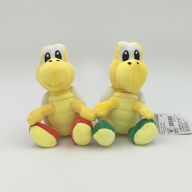 2017 NEW 2 Colors Super Mario Bros. 6Inch 15CM Koopa Troopa Plush Doll Fashion Lovely Cartoon Turtle Toys For Children