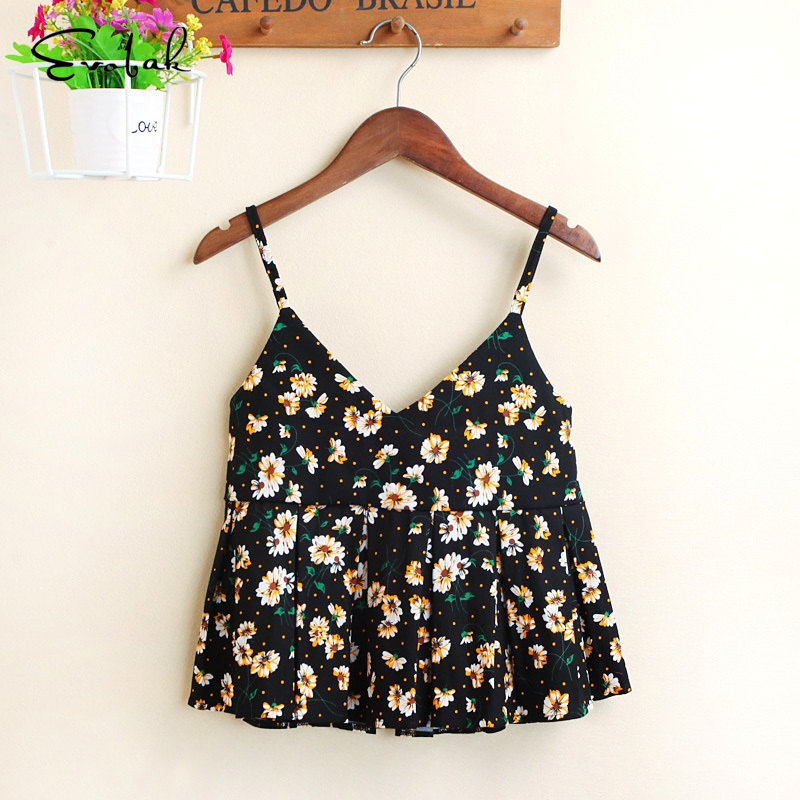 Crop Top Camis Women 13 Color S-L Floral Sexy Cotton Cross Summer Tops Bandeau Sexy Cropped Feminino Tank Tops Women Clothing