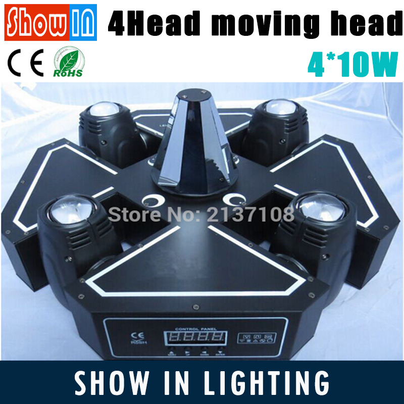 4 Head 60W LED Moving Head Beam Wash Lotus Effect DMX DJ Disco Wedding Stage Equipment Strobe Lights Free Shipping