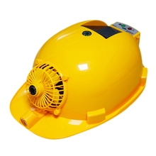 цена на Solar Charging Power Bank Air Conditioner Cooling Fan Outdoor Working Hard Hat Construction Worker Helmet.