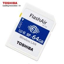 TOSHIBA Cartão De Memória Wi fi 32 32 GB GB 64 16 GB Cartão SD GB Classe 10 U3 FlashAir W 04 Memória cartão de Memória Flash Wi fi Cartão SD Para Câmera Digital