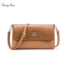 Tonny Kizz matte leather crossbody bags for women alligator prints shoulder high quality bolsa feminina messenger