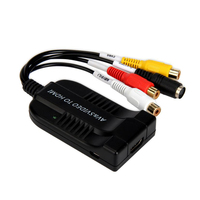 1080P AV And S Video To HDMI Audio Converter Adapter With Micro USB Cable For HDTV