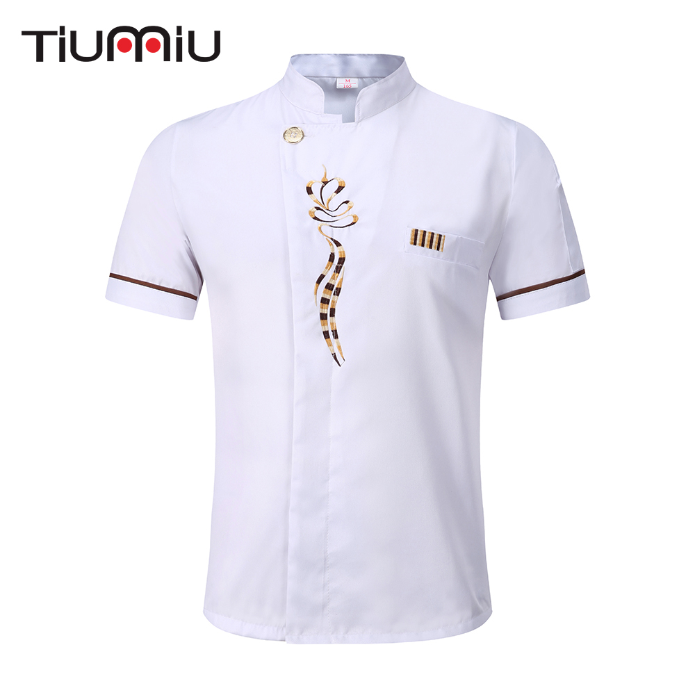 New Arrival 5 Colors Wholesale Unisex Kitchen Chef Uniform High Quality Short Sleeve Breathable Chef Jackets Bakery Food Service