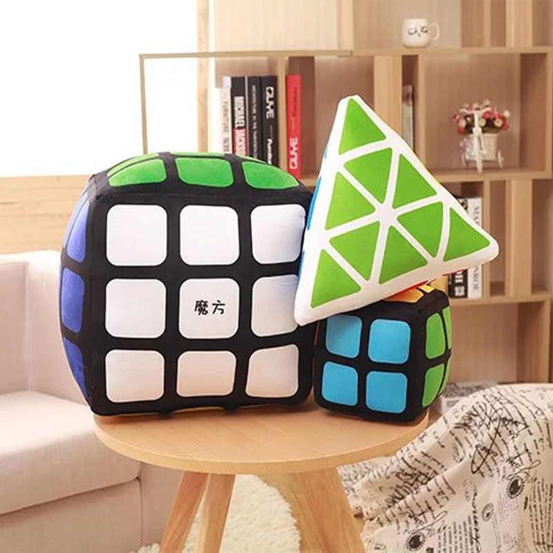 Волшебный куб плюшевая подушка игрушки для детей Мультяшные кубики моделирование мягкие треугольные кубические подушки Творческие Плюшевые игрушки для детей Подарки