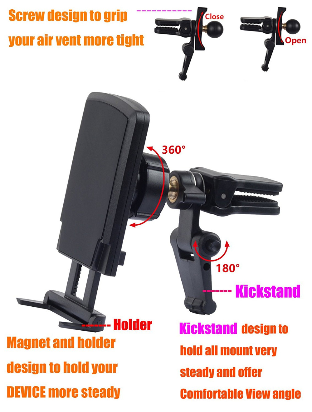 New Universal Device Fits For iPhone 7/plus /SE/6s.samsung Samsung Galaxy S7 note 7and all other cell phones and GPS Navigator