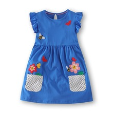 Dresses princess girl dress printed sirene summer clothes