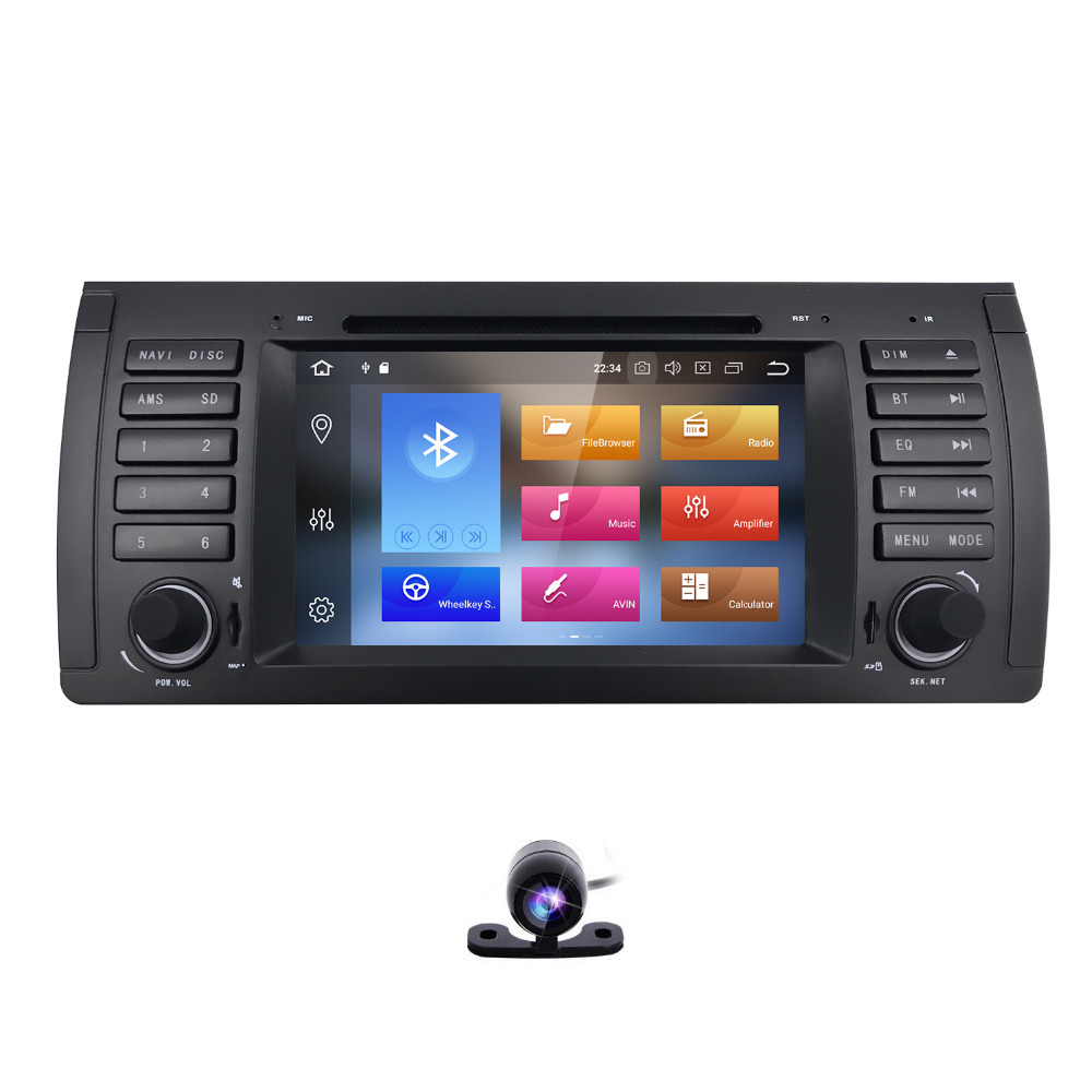 7 inch 1Din AutoRadio Head unit Car DVD Player For BMW E39 E53 E38 M5 X5 1994-2007 Multi ...