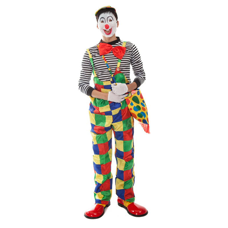 Adult Clown Cosplay Costume for Halloween Party  Bar Decoration Christmas Party Clown Suit Free Size