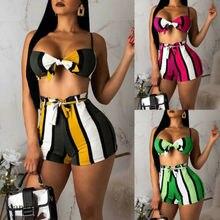 Женский сексуальный бандажный полосатый костюм из двух частей, комплект бикини, пуш-ап Мягкий Бразильский пляжный купальник, купальник