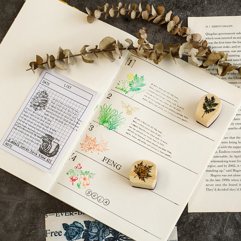 und schreibwaren scrapbooking karten dekor wald papier serie holz stempel