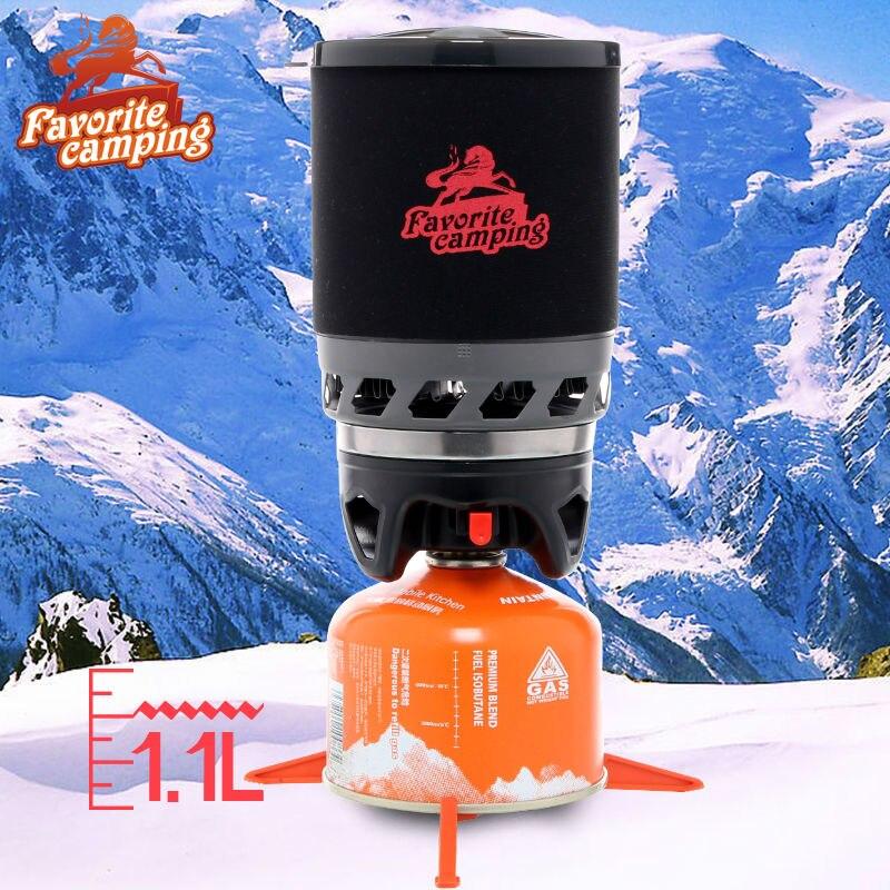 Skazka Ourdoor Camping Cuisinière À Gaz 1100 ml Système et Portable Brûleur À Gaz Haute Puissance Feux De Cuisson Four Réchaud de Camping Pack-02