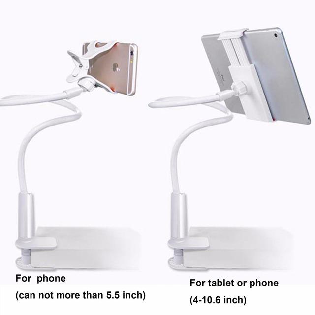 360 Rotating Flexível 70 cm Longo Braço Titular Tablet PC 4-10 polegada suporte do telefone móvel preguiçoso cama mesa suporte de montagem para ipad air Mini