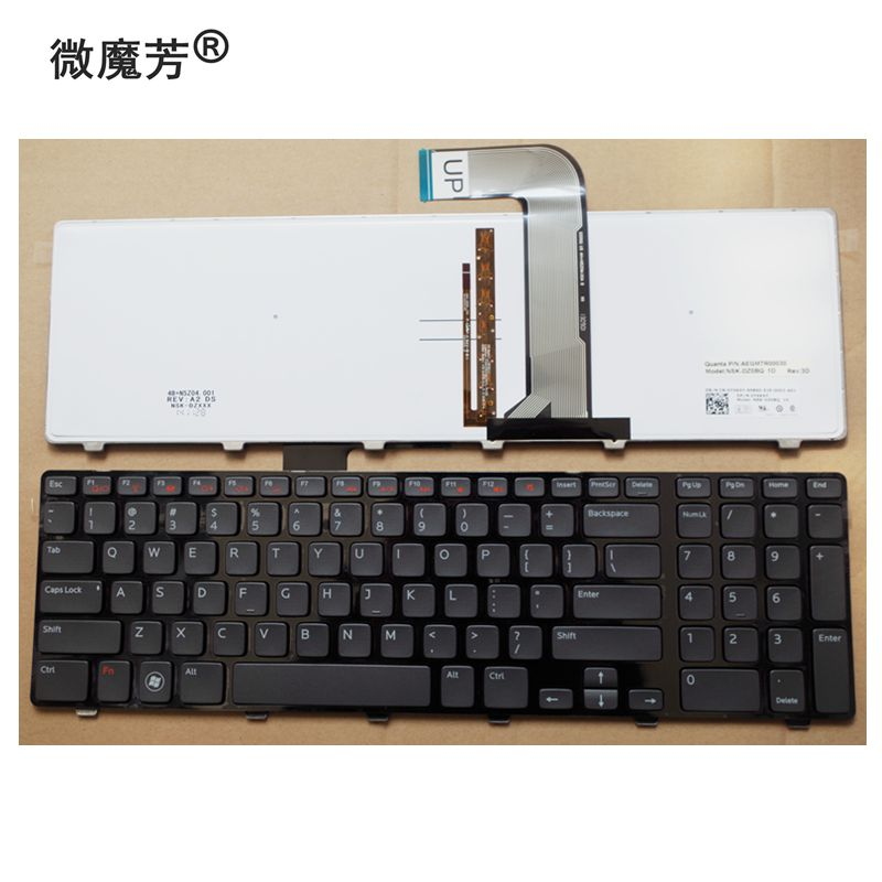 US 99% New Replace laptop keyboard For Dell N7110 17R 7110 L702X FOR Vostro 3750 5720 7720 backlight new us laptop keyboard for lenovo ideapad 700 15isk 700 15 us black laptop keyboard backlight