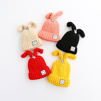 Toddler Baby Casual Smile Pattern Hats Knitted Spring Autumn Little Boy Girl Cotton Fashion Clothes Children