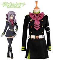 Japanischen Anime Seraph Der Ende Owari keine Seraph Hiiragi Shinoa Cosplay Kostüme Full Set Uniform