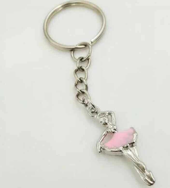 Liga esmalte bailarina ballet lagosta fecho chaveiro para chaves do carro chaveiro lembrança moda nova esmalte jóias feminino