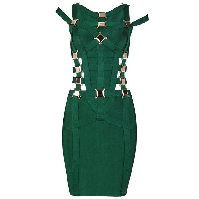 6b0db4c868b 2017 summer sleeveless short women Green black Sequin slim Celebrity Cocktail  Party dresses HL Bandage Bodycon