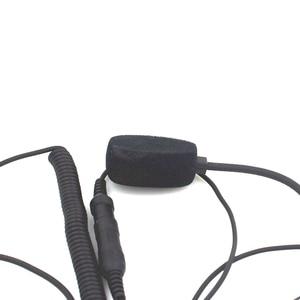 Image 4 - 2 קסדת אופנוע רדיו אוזניות מיקרופון עבור Kenwood PTT אצבע פין 3207 BAOFENG UV5R UV5RA מכשיר קשר רדיו חובבים