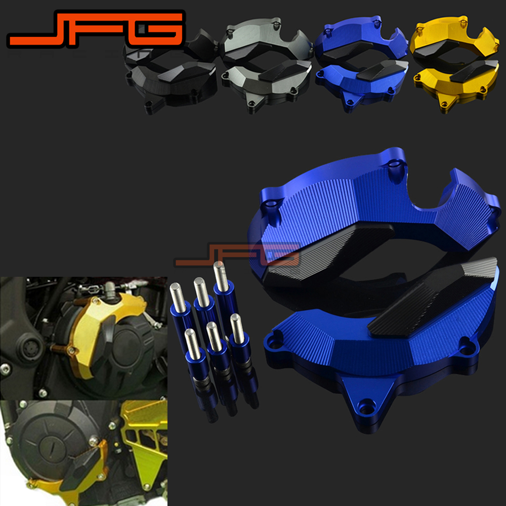 Motorcycle Aluminum Engine Stator Case Guard Cover Protector For Yamaha YZF-R3 YZF R3 Motocross Dirt Bike motorcycle cnc 6 hole beveled engine side guard derby cover