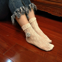 3 Pairs Summer New Sexy Mesh Ankle Socks  Flower with Diamond Ladies Net Socks Hollow Fishnet Net Hosiery