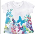 Catimini T-shirt 2014 summer French Catimini The butterfly laceT-shirt catimini  shirt new style girl t-shirt short sleeve  tees