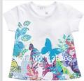 Catimini T-shirt 2014 summer French Catimini The butterfly laceT-shirt catimini  shirt new style girl t-shirt short sleeve  tees