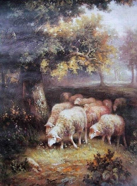 Print Goat Landscape Paintings