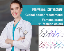 Free Shipping 11 Colors High Quality Medical Professional Stethoscope Health Famous Brand Made in Taiwan Functional Estetoscopio health care professional medical double dual head stethoscope double barreled functional high quality estetoscopio