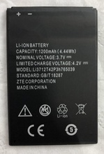 Li3714T42P3h765039  Battery For ZTE Lame A3 T220 AF3 T221 A5 AF5 1400mAh
