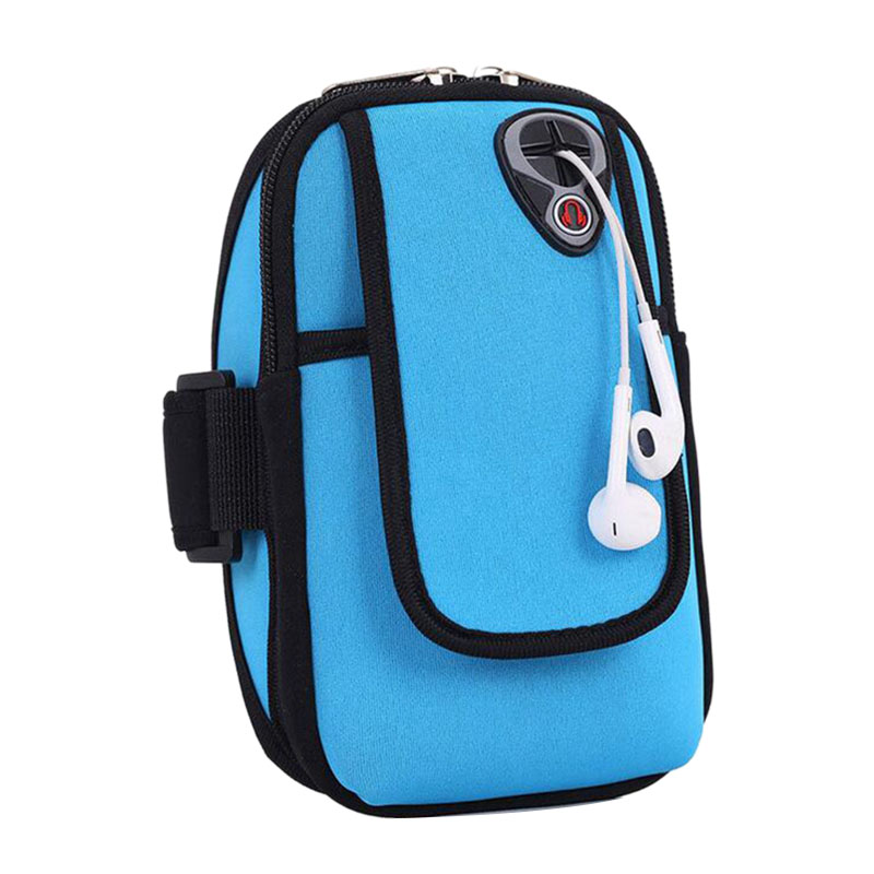Classic Diving Arm Bag Sports Arm Band Cycling Running Arm Bag Universal Smartphone Mobile Phone Headphone Hole Key Arm Bag Fo