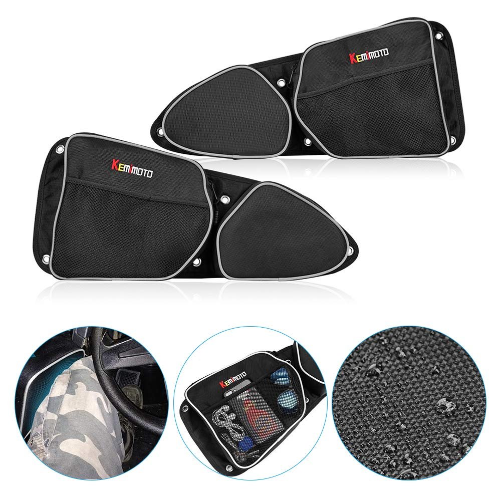 KEMiMOTO Passenger Driver Side Door Bag Storage Bag Knee Pad UTV for Can Am Commander 1000