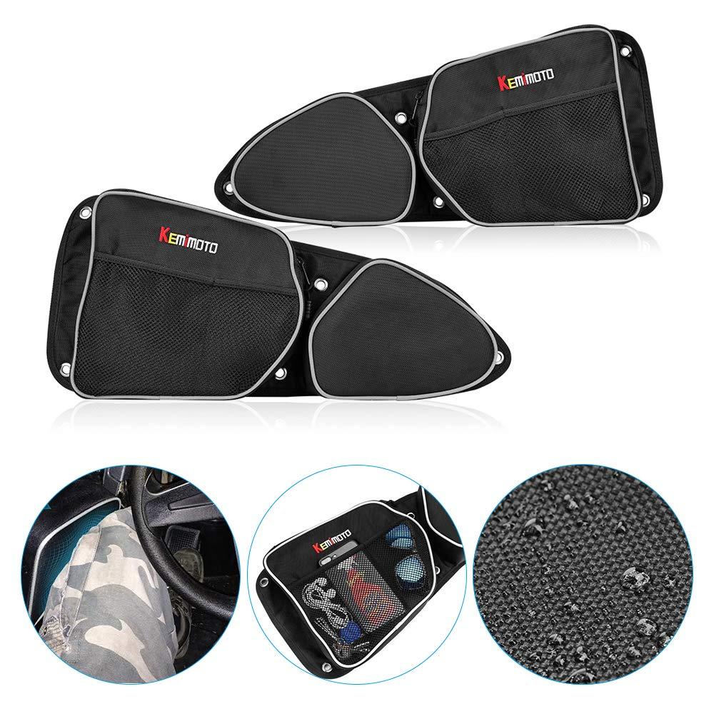 KEMiMOTO UTV Passenger Driver Side Door Bag Storage Bag Knee Pad For Polaris RZR XP 1000 900XC S900 2014-2018 2015 2016 2017