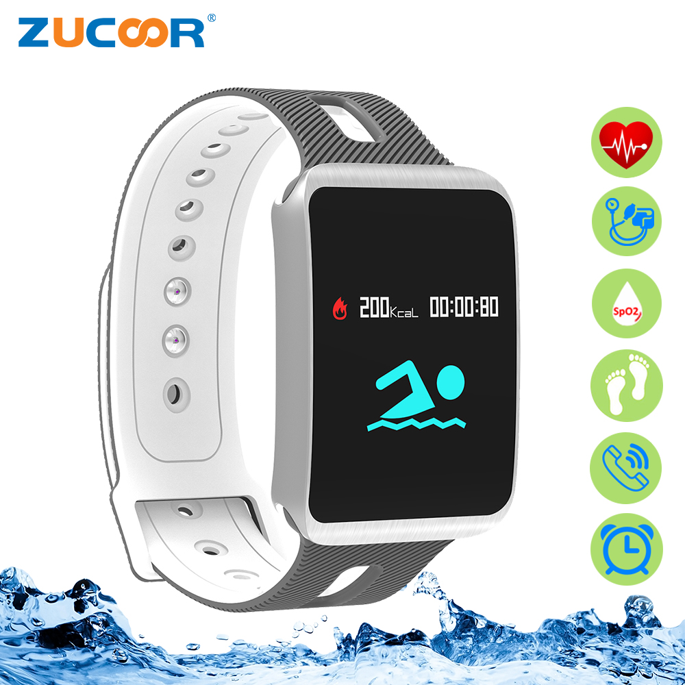 ZUCOOR IP68 Smart Bracelet Band Tonometer Bracelets Heart Rate Monitor Wristband Health Tracker Pulsometro Pedometer Pk Xaomi