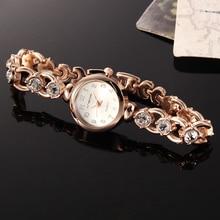 New Design 0.78″ Dial Luxury Ladies/Women's Business Diamond Quartz Watch Female Clock Gold Bracelet Stainless Steel Wristwatch
