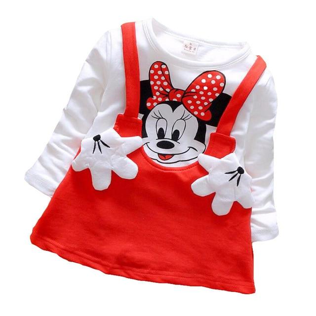 e39b49ff77bb7 2017 printemps automne enfants filles robe bébé fille princesse fête Mickey  Minnie Tutu robe pour filles