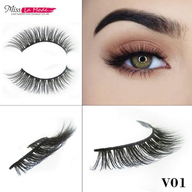 0b2575e5473 Misslamode false mink strip eyelashes make up fake false eyelashes mink  eyelashes 3d mink hair lashes V01
