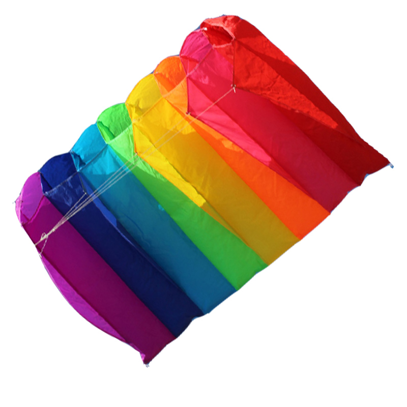 Free Shipping NEW  Single-line Software Kite  Eight Holes  Kites  With Handle And Line Send 2pcs 10m Rainbow Tail Good Flying