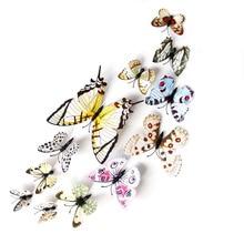2016 Reales Vinilos Paredes Venta Caliente de Alta Calidad de 20 colores Pvc 3d Mariposa Pegatinas de Pared del Hogar de la Vendimia Decoración de la Habitación Niños flor