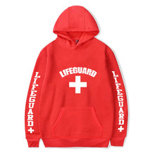 Harajuku Hooded Pocket Lifeguard Design Men Women Hoodies Hoody Life Guard Sweatshirt Fleece Warm Streetwear Unisex Clothes(China)