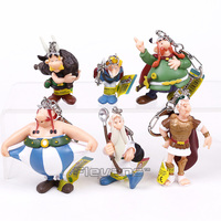 The Adventures Of Asterix French Cartoon Asterix PVC Figures Toys With Keychain Kids Childrens Gifts 6pcs