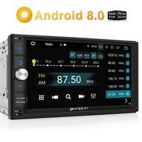Pumpkin 2 Din 7 Android 8 0 Universal Car Radio No DVD Player Qcta Core GPS