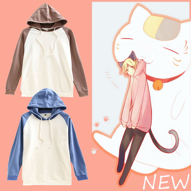 [STOCK] Animation Hoodie Pullover Natsume Takashi Cosplay Hooded Top 2 colors in S-XXL New 2017 Free shipping