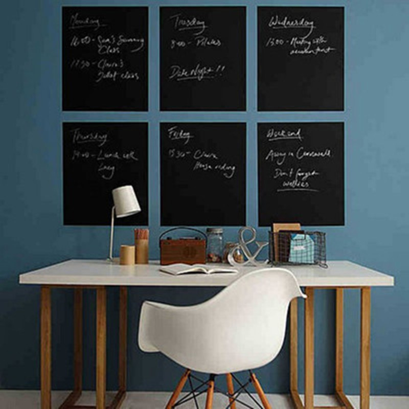 Aliexpress.com : Buy Nontoxic PVC Removable Wall Sticker A4 Office  Blackboard Chalkboard Sticker Creative Graffiti Wall Stickers Home Decor  From Reliable ...
