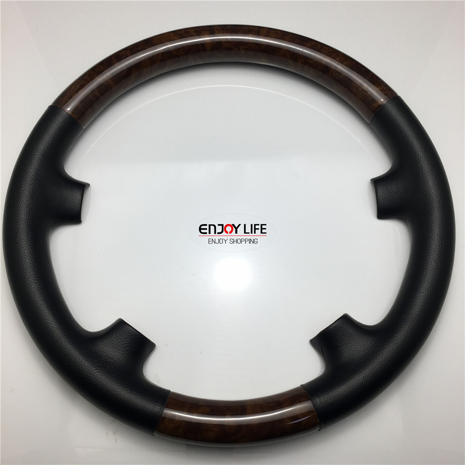 1pc abs wood color car steering wheel cover trim for for Mercedes benz steering wheel cover