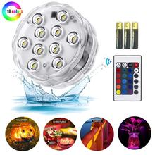 10 Leds RGB Swiming Pool Light Waterproof ip68 Underwarter For Fishing Tank Garden Outdoor Home Fountain Pond Decoration
